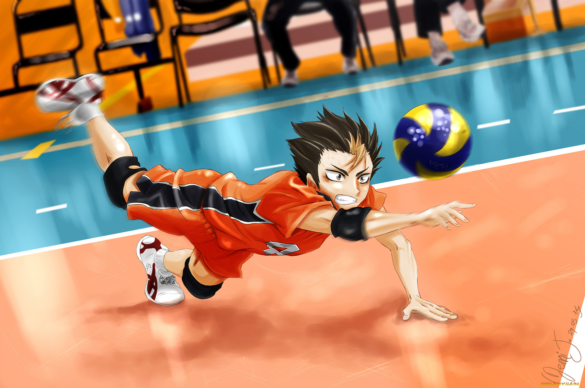 Картинки аниме про волейбол